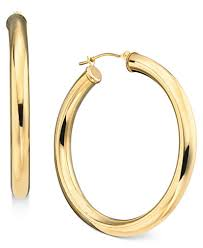 gold hoops earrings 14k gold large polished hoop earrings earrings jewelry