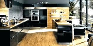 cuisine noir et jaune cuisine noir bois cuisine noir mat et bois cuisine en design cuisine