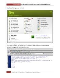 membuat web html modul dan ebook belajar membuat website untuk pemula dengan dreamweav