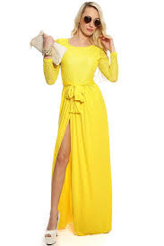 womens clothing party dresses yellow floral lace long sleeve maxi