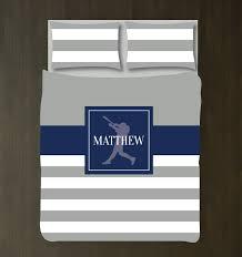 Sports Themed Duvet Covers Custom Baseball Striped Bedding U2013 Shop Wunderkinds