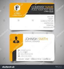 yellow modern creative business card name stock vector 550891195
