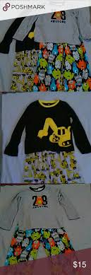boys size 12 pajamas boys size 12 pajamas one is trackters and