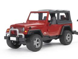 toy jeep car buy bruder toys jeep wrangler unlimited with one axle trailer and