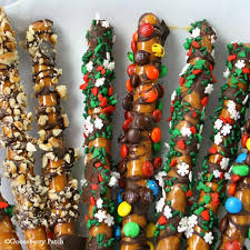 wholesale pretzel rods gooseberry patch recipes caramel chocolate pretzel rods from big