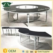 mdf half moon table