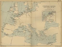Map Of The Europe by Of The European Waters 1792 1815
