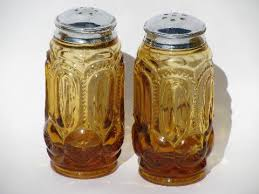 kitchen canister jars u0026 shakers set moon u0026 stars pattern amber glass