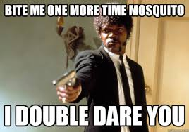 Mosquito Memes - bite me one more time mosquito i double dare you samuel l jackson