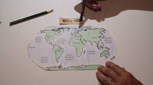 World Map Of Continents And Oceans To Label by Continents And Oceans Interactive Notebook Youtube