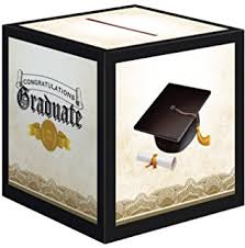 graduation money box grad cap money card holder home kitchen