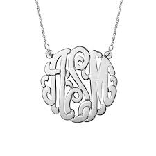monogram necklace silver silver monogram necklace s addiction