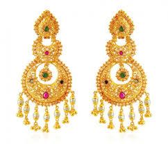 big jhumka gold earrings 22k gold gold earrings gold earrings in range us 2000