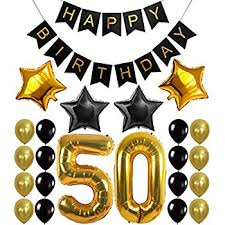 50th birthday party supplies 50th birthday decorations balloon banner happy