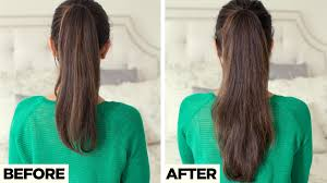 short haircuts when hair grows low on neck longer ponytail in 2 minutes youtube