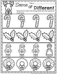christmas theme for preschool christmas worksheets preschool