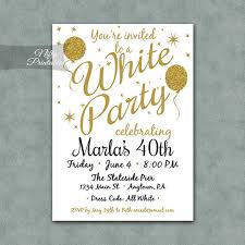 all white party white party invitation printable white gold black tie