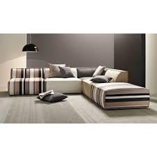 canape tissu rayures canapé d angle modulable à rayures 5 places en coton maisons du