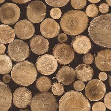contemporary faux wood nature brown firewood wallpaper walls