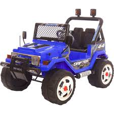 electric jeep drifter 4x4 12v jeep blue u2013 rathoe toys