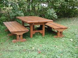 wood picnic table plans free picnic table bench plans pdf plans