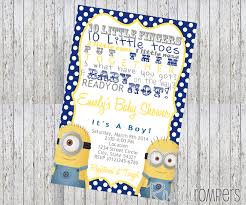 minion baby shower ideas minion baby shower invitations which can be used as baby