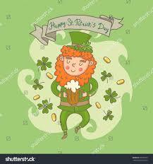 st patricks day leprechaun cartoon character stock vector