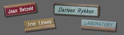 Name Plate Desk Desk Nameplates