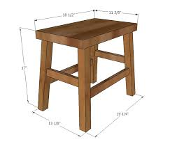 Proper Woodworking Bench Height by Ana White No Sew Cayden Nailhead Stool Diy Projects
