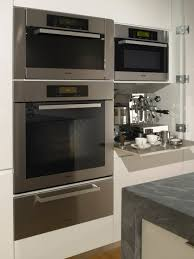 Kitchen Oven Cabinets Miele Ovens And Espresso Cabinet Modern Kitchen San