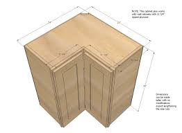 how big is a corner base cabinet pin on kitchen