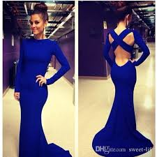 discount long sleeve royal blue bodycon dress 2017 long sleeve