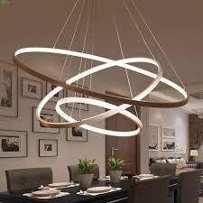 Diy Led Chandelier Modern Diy Aluminum Ring Led Pendant Chandelier Light Lustre