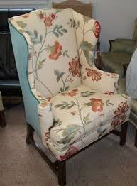 new cushions for this wicker chair made at ravenwood furniture