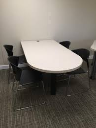 D Shaped Conference Table Used Steelcase Office Tables Archive Furniturefinders