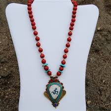 tibetan necklace images Tibetan pendant necklace turquoise coral lapis jpg