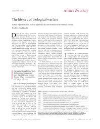 the history of biological warfare