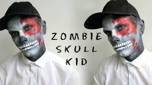 skull kid halloween costume zombie skull kid halloween tutorial makeup youtube