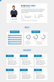 resume template website 15 best html resume templates for awesome personal