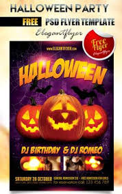 psd halloween party flyer template free designsave com free