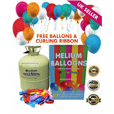 50 balloons delivered disposable helium gas canister cylinder fills 50 balloons with