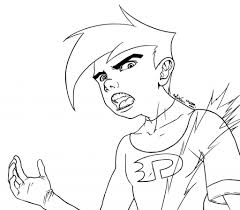 danny phantom coloring pages free coloring kids 3482