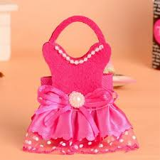 pink gift bags wholesale fuchsia pink baby girl dress shaped non woven gift bags