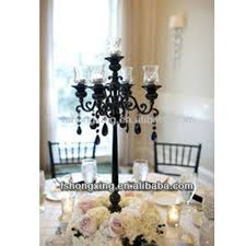 Cheap Candelabra Centerpieces Black Crystal Candelabra For Wedding Centerpiece Black Crystal