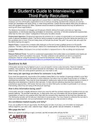 Sending Resume To Recruiter A Student U0027s Guide To Interviewing With Third Party Recruiters