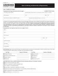 Power Attorney Letter by Louisiana Tax Power Of Attorney Form R 7006 Eforms U2013 Free