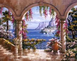 33 best mural ideas images on pinterest mural ideas murals and sung kim floral patio i painting is shipped worldwide including stretched canvas and framed art this sung kim floral patio i painting is available at custom