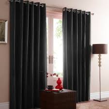 Black Eyelet Curtains 66 X 90 Red Midtown Embroidered Faux Silk Fully Lined Eyelet Curtains