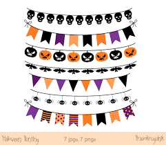 halloween graphic art halloween banner clip art clipart digital banner flag garland