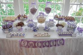 Wedding Candy Table Bridal Shower Lovely Lavendar And White Candy Buffet And Dessert